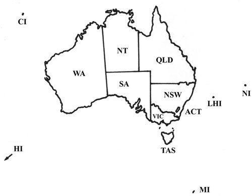 queensland map coloring pages - photo#35