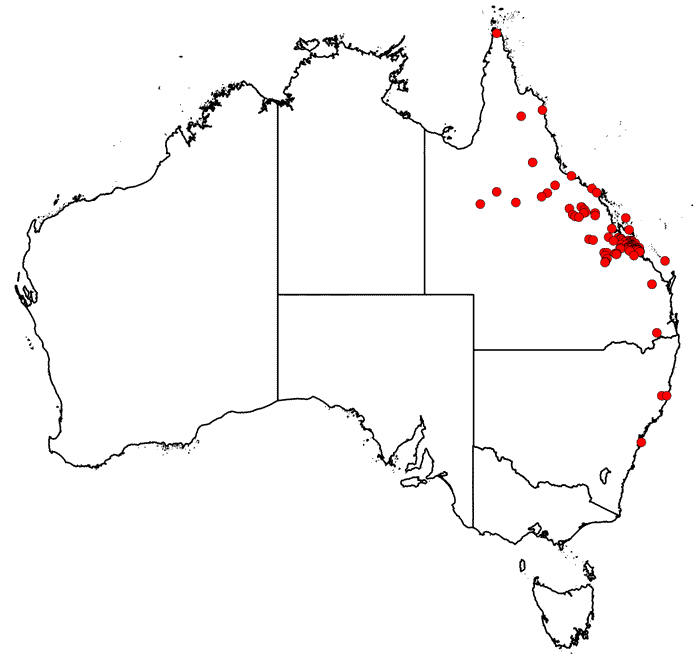 Map of collecting locations from AVH for Anthelme Thozet