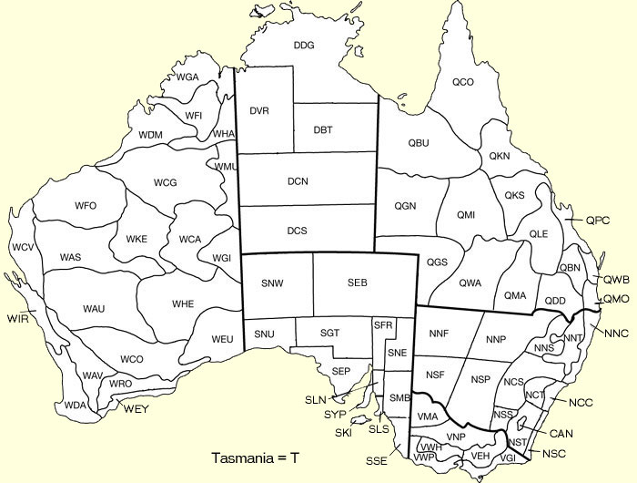 Botanical Districts of Australia  Australian National Herbarium