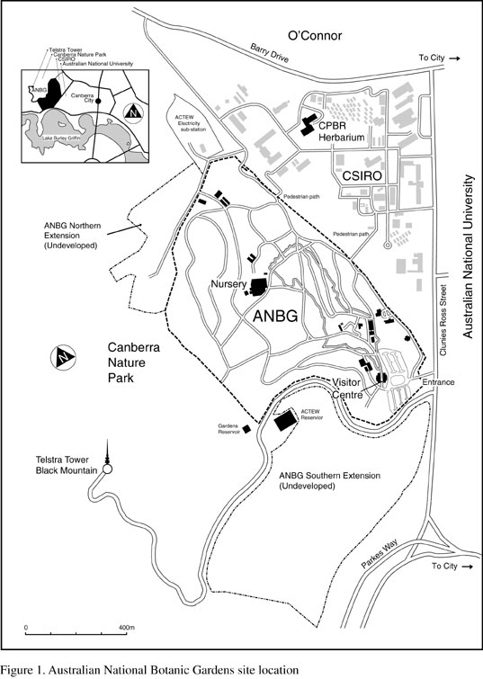 map ANBG site