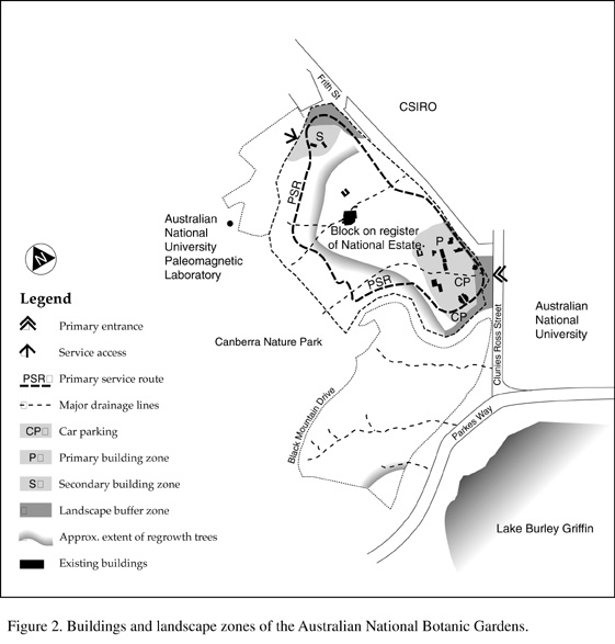 map ANBG landscape zones