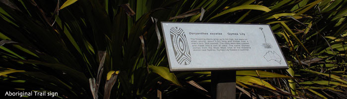 Aboriginal trail sign
