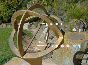 sundial photo with text