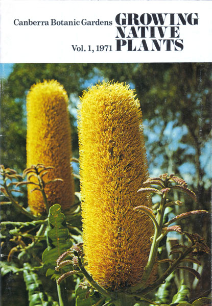 Growing Native Plants No.1 front cover 1971