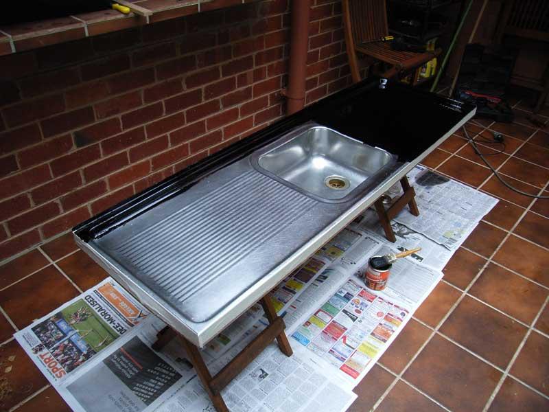 Paint Sink : paint bituminous paint sink painted kitchen sink cabinets kitchen sink ...