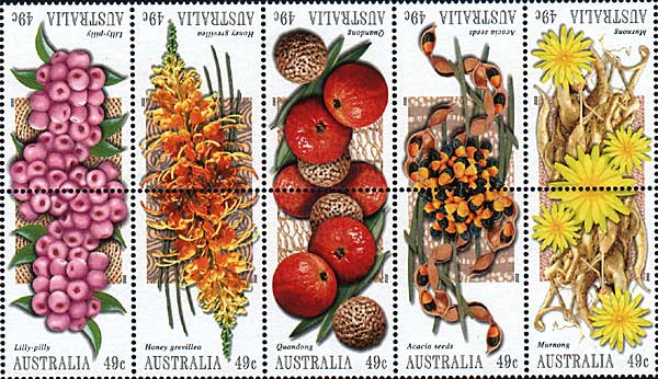 stamps: bush tucker set